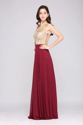 High Waist Burgundy Evening Dress