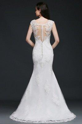 ANNALEE Mermaid Sweep Zug Elegantes Hochzeitskleid mit Spitze_2