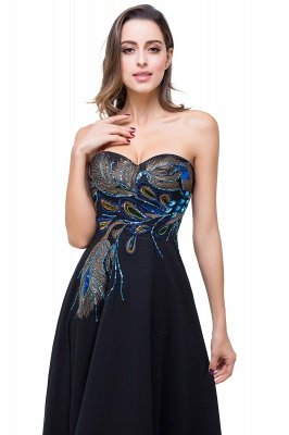 ADALYNN | A-line Sweetheart Black Evening Dress with Embroidery_6