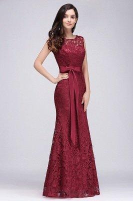 round neck evening dresses