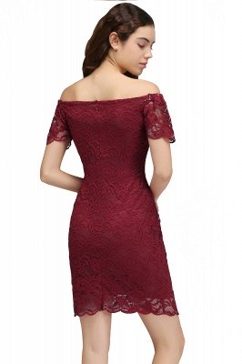 CAMRYN | Sheath Off-the-Shoulder Short Lace Burgundy Homecoming Dresses_3