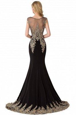 ABIGAIL   Mermaid Court Train Chiffon Evening Dress with Appliques_7