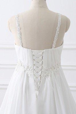 ALIVIA | Elegante A-Linie Chiffon Brautkleider Tr?ger Applikationen Lace-Up Brautkleider_5