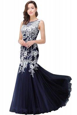 Longue robe de bal maxi dentelle sirène sans manches_5