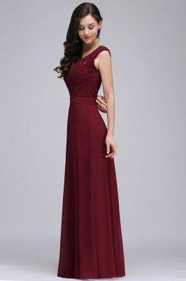CORINNE | A-line Floor-length Lace Burgundy Elegant Prom Dress_9