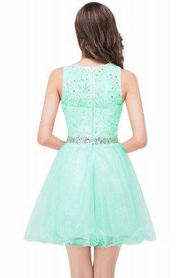ABBY | A-ligne longueur au genou Tulle robe de bal avec Appliques & Crystal_8