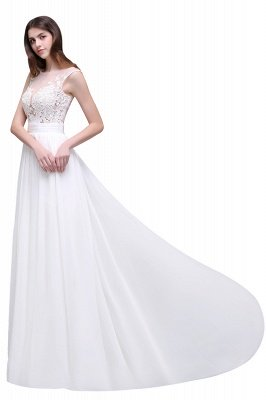 ALANI   Mantel Sheer Chiffon Brautkleider mit Spitze_7