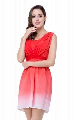 ADRIANA   A-line Jewel Red Bridesmaid Dress_7