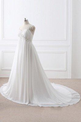 ALIVIA | Elegante A-Linie Chiffon Brautkleider Tr?ger Applikationen Lace-Up Brautkleider_3