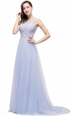ABRIL | A-line Court Train Tulle Evening Dress with Appliques_4