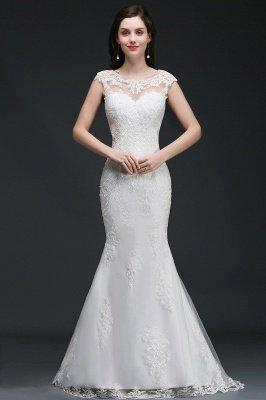 ANNALEE Mermaid Sweep Zug Elegantes Hochzeitskleid mit Spitze_1