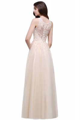 ATHENA | A-line Floor-Length Tulle Prom Dress With Lace_6
