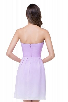 ADLEY | A-line Strapless Chiffon Bridesmaid Dress with Draped_3