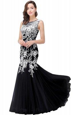 Longue robe de bal maxi dentelle sirène sans manches_6