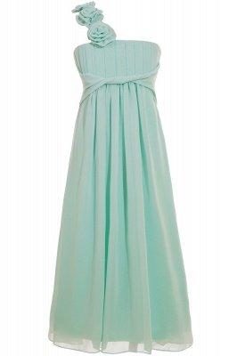 Einfache A-Linie Chiffon Brautjungfernkleider Lang | Brautjungfer Kleid Eine Schulter_4