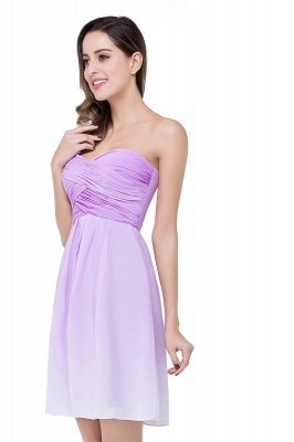 ADLEY | A-line Strapless Chiffon Bridesmaid Dress with Draped_4
