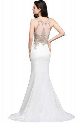 AVERIE | Русалочка совок шифона Элегантное платье выпускного вечера с аппликациями_4