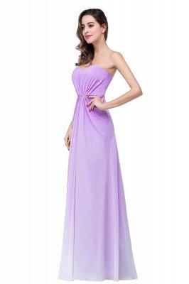 ADRIENNE | A-line Strapless Chiffon Bridesmaid Dress_7