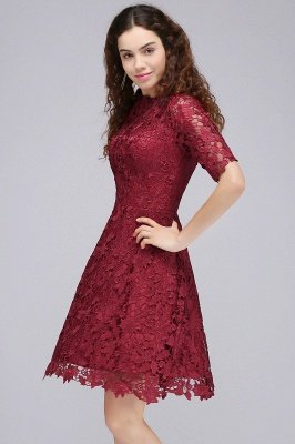elbow sleeve homecoming dresses