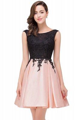 EVA | A-line Sleeveless Lace Appliques Short Prom Dresses_8