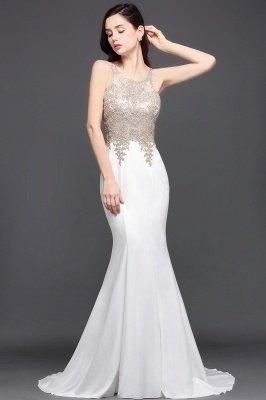 AVERIE | Русалочка совок шифона Элегантное платье выпускного вечера с аппликациями_5