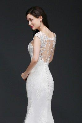 ANNALEE Mermaid Sweep Zug Elegantes Hochzeitskleid mit Spitze_5