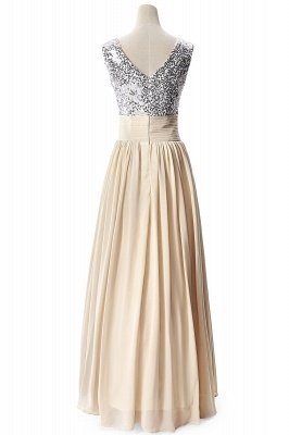 AISLINN | A-line V-neck Chiffon Party Dress With  Sequined_7
