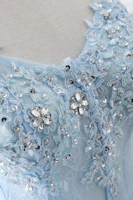 CHARLIZE | Vestido de fiesta Sweetheart Tulle Sky Blue Vestido de fiesta barato con lentejuelas_4