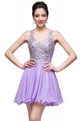 ruffle short prom dresses