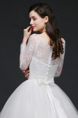 AZARIA | فستان زفاف الأميرة سكوب تول الأبيض مع الدانتيل_7