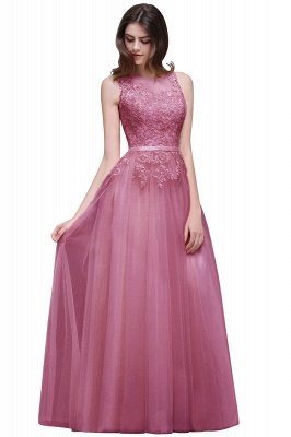 ATHENA | A-line Floor-Length Tulle Prom Dress With Lace_2