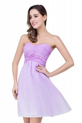 ADLEY | A-line Strapless Chiffon Bridesmaid Dress with Draped_10
