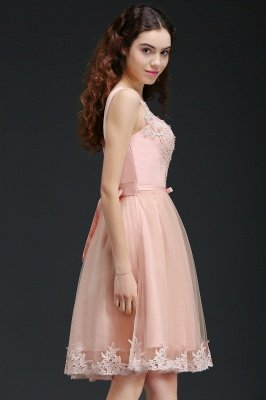 ANIYAH | A-ligne courte robe de retour mignon avec dentelle_7