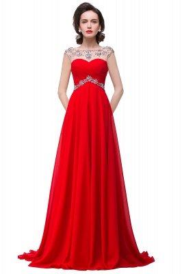 AINSLEY   A-ligne chérie robe de soirée en mousseline de soie avec cristal_2