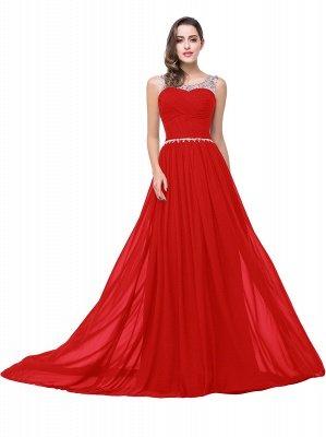 AIMEE | A-Linie Gericht Zug Chiffon Party Kleid mit Perlenstickerei_2
