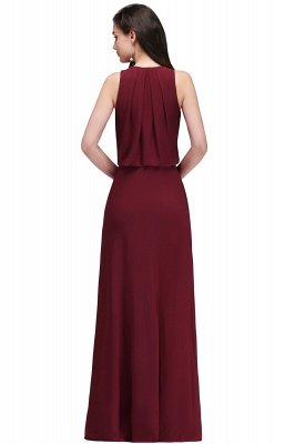 EDITH | A-line V-neck Floor-length Sleeveless Burgundy Prom Dresses with Crystal_3