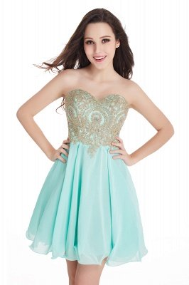 CYNTHIA | A-Line Strapless Short Chiffon Prom Dresses with Beadings_10