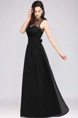Jewel Lace Keyhole Gaine-parole longueur noire en mousseline de soie Sexy robe de soirée_12