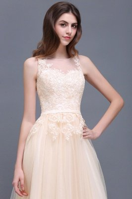 ATHENA | A-line Floor-Length Tulle Prom Dress With Lace_10