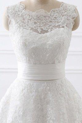 ALIYA | Vestidos de novia de encaje con lazo y falda desmontable_5