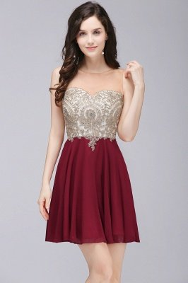 Burgundy Cocktail Party Dresses