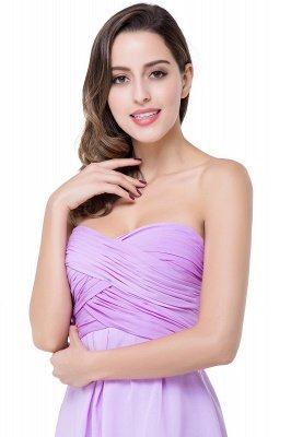 ADLEY | A-line Strapless Chiffon Bridesmaid Dress with Draped_11