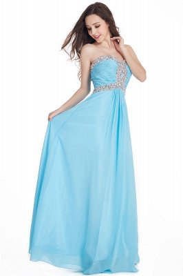 CRYSTAL | Sheath Floor-Length Sweetheart Chiffon Prom Dresses with Crystals_3