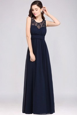 Jewel Long gaine en mousseline de soie-parole longueur manches en dentelle sexy robe de soirée_6