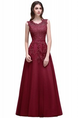 ADDILYN | A-line Floor-length Tulle Prom Dress with Appliques_3
