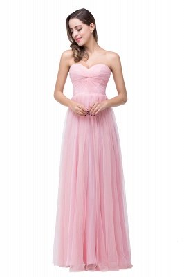 ADRIANNA | A-line Sweetheart Tulle Bridesmaid Dress with Draped_2