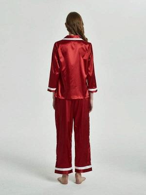 Бордовые пижамы с длинными рукавами онлайн_2