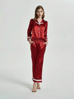 Бордовые пижамы с длинными рукавами онлайн_3