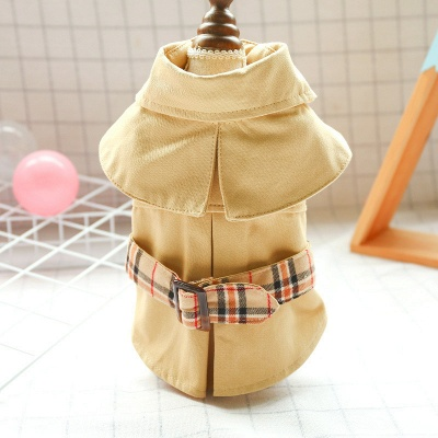 Fashion Short Sleeve Dog Cloth With Cape | Sash Pet Skirt