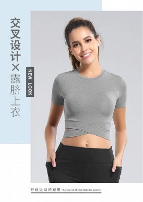 Workout Yoga Crop Tops Gym Exercise Clothes Crop Top Workout Muslce Shirts for Women_12